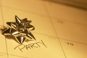 Party, Calendar, Bow